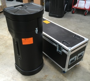T3 booth and case