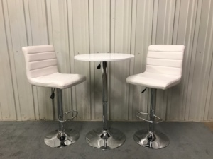 White chair and table