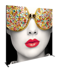 """Vector Frame™ fabric light box Rectangle 05 features durable 100mm aluminum extrusion frames, push-fit backlit fabric graphics and LED edge lighting, and measures 118.99""""W x 94.74""""H"""