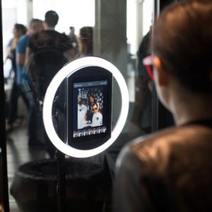 Digital Lead Capture Kiosk in use