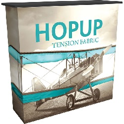"Fabric Hop Up Counter -  41.75""w x 39.69""h x 14.25""d"