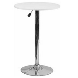 """Cocktail Table - White - $99  (Height: 26.25 - 35.75"""")"""