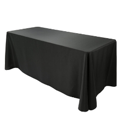"6ft Banquet Table & Black Table Linen - $149  (72 x 30 x 30"")"
