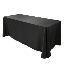 "6ft Banquet Table & Black Table Linen - $149  (72 x 30 x 30"")"