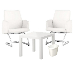Executive Package - $299   Includes 2 Executive Chairs, Cafe Table, Small Wastebasket