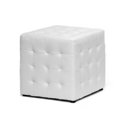"Faux Leather Cube Seating Ottoman - $50 (14.25 x 14.25 x 14.75"")"