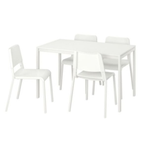 Rental Furniture - White Table & Chairs