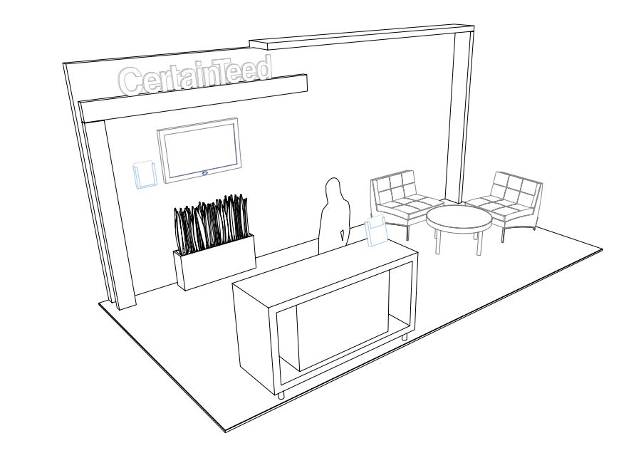 10 x 20 Virtual Booth Template Example